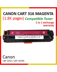 Canon 316 / Cartridge 316 / CRG 316 / CART 316 MG High Quality Compatible Color Laser Toner Magenta Cartridge for Canon LBP-5050 LBP 5050 LBP5050 / LBP-5050n LBP 5050n LBP5050n Printer Ink