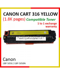 Canon 316 / Cartridge 316 / CRG 316 / CART 316 YW High Quality Compatible Color Laser Toner Yellow Cartridge for Canon LBP-5050 LBP 5050 LBP5050 / LBP-5050n LBP 5050n LBP5050n Printer Ink