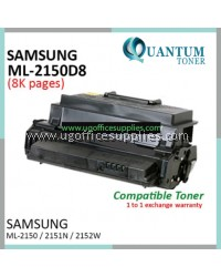 Samsung ML-2150D8 / ML2150 High Quality Compatible Laser Toner Black Cartridge for Samsung ML-2150 / ML-2151N / ML2151N / ML-2152W / ML2152W / ML-2510W / ML2510W / ML-2550 / ML2550 / ML-2551N / ML2551N / ML-2552W / ML2552W Printer Ink