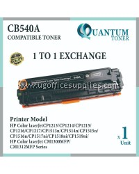 HP 125A / CB540A BK High Quality Compatible Color Laser Toner Black Cartridge for HP Color LaserJet CP1210 / CP1215 / CP1510 / CP1515 / CP1515n / CP1518 / CP1518NI / CM1300 / CM1312 MFP / CM1312NFI MFP / CM1512 MFP Printer Ink