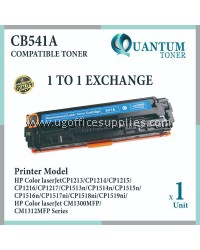 HP 125A / CB541A CY High Quality Compatible Color Laser Toner Cyan Cartridge for HP Color LaserJet CP1210 / CP1215 / CP1510 / CP1515 / CP1515n / CP1518 / CP1518NI / CM1300 / CM1312 MFP / CM1312NFI MFP / CM1512 MFP Printer Ink