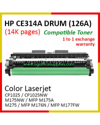 HP 126A / CE314A / CE314 High Quality Imaging Drum Kit for HP LaserJet Pro CP1025 / CP1025NW / LaserJet Pro 100 M175NW / MFP M175A / M275 / MFP M176N / MFP M177FW Printer Drum Unit