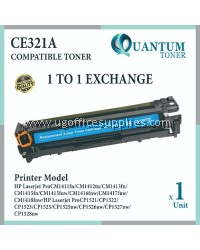 HP 128A / CE321A CY High Quality Compatible Color Laser Toner Cyan Cartridge for HP Color LaserJet Pro CP1525 CP1525N / CP1525NW / MFP CM1415 CM1415FN / CM1415FNW Printer Ink