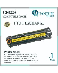 HP 128A / CE322A YW High Quality Compatible Color Laser Toner Yellow Cartridge for HP Color LaserJet Pro CP1525 CP1525N / CP1525NW / MFP CM1415 CM1415FN / CM1415FNW Printer Ink