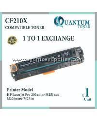 HP 131A 131X / CF 210X CF210X / CF210A High Yield & High Quality Compatible Color Laser Toner Black Cartridge for HP Color LaserJer Pro 200 Color M251N / Pro 200 M251NW / Pro 200 MFP M276N / Pro 200 MFP M276NW Printer Ink