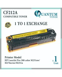 HP 131A / CF212A High Quality Compatible Color Laser Toner Yellow Cartridge for HP Color LaserJer Pro 200 Color M251N / Pro 200 M251NW / Pro 200 MFP M276N / Pro 200 MFP M276NW Printer Ink