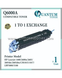 HP 124A Q6000A High Quality Compatible Color Laser Toner Black Cartridge for HP Color LASERJET 1600 / 2600 / 2600N / 2605DN / 2605 / 2605DTN / CM1015 / CM1017 Printer Ink
