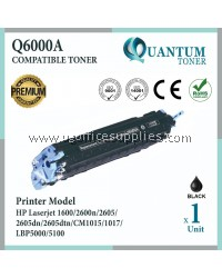 HP 124A Q6000A BK High Quality Compatible Color Laser Toner Black Cartridge for HP Color LASERJET 1600 / 2600 / 2600N / 2605DN / 2605 / 2605DTN / CM1015 / CM1017 Printer Ink