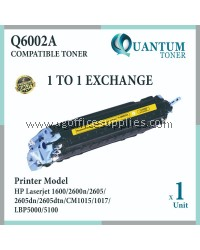 HP 124A Q6002A High Quality Compatible Color Laser Toner Yellow Cartridge for HP Color LASERJET 1600 / 2600 / 2600N / 2605DN / 2605 / 2605DTN / CM1015 / CM1017 Printer Ink
