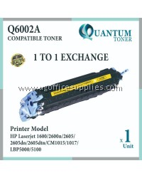HP 124A Q6002A YW High Quality Compatible Color Laser Toner Yellow Cartridge for HP Color LASERJET 1600 / 2600 / 2600N / 2605DN / 2605 / 2605DTN / CM1015 / CM1017 Printer Ink
