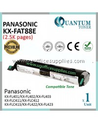 Panasonic KX-FAT88E / FAT88E / 88E BK High Quality Compatible Laser Toner Black Cartridge for Panasonic KX-FL401 / KX-FL402 / KX-FL403 / KX-FLC411 / KX-FLC412 / KX-FLC413 / KX-FLC422 / KX-FLC423 Printer Ink