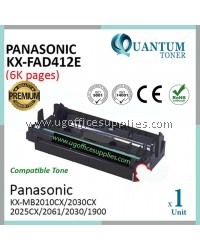 Panasonic KX-FAD412E / KXFAD412 / 412E BK High Quality Compatible Laser Drum Kit for Panasonic KXMB2000 / KXMB2010 / KXMB2025 / KXMB2030 / KXMB1900 / KXMB2001 / KXMB2061 / KXMB2062 / KXMB2085 / KXMB2090 Fax Ink (Drum Set Only)