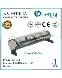 Panasonic KX-FAT411E / KXFAT411E / 411E High Quality Compatible Fax Toner Black Cartridge for Panasonic KX-MB2000 / KX-MB2010 / KX-MB2025 / KX-MB2030 / KX-MB1900 / KX-MB2001 / KX-MB2061 / KX-MB2062 / KX-MB2085 / KX-MB2090 Printer Ink