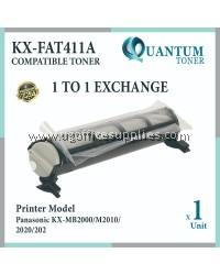 Panasonic KX-FAT411E / KXFAT411E / 411E High Quality Compatible Fax Toner Black Cartridge for Panasonic KX-MB2000 / KX-MB2010 / KX-MB2025 / KX-MB2030 / KX-MB1900 / KX-MB2001 / KX-MB2061 / KX-MB2062 / KX-MB2085 / KX-MB2090 Printer Ink