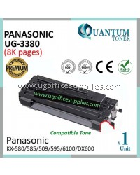 Panasonic UG3380 / UG-3380 BK High Quality Compatible Laser Toner Black Cartridge for Panasonic UF585 / UF590 / UF595 / UF6100 / UF6300 / UF-585 / UF-590 / UF-595 / 5100 / 5300 / 6100 / 580 / 585 / 590 / 595 / 596 / DX-600 Printer Ink
