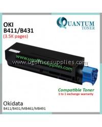 OKI B411 / B431 / 44574703 BK High Quality Compatible Laser Toner Black Cartridge for OKI OKIDATA B411 / B411D / B411DN / B431 / B431D / B431DN / MB461 / MB471 / MB471DNW / MB471W / MB491 / MB491DN Printer Ink