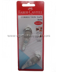 FABER CASTELL CORRECTION TAPE REFILL ONLY 6m (TWIN PACK)