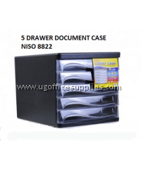 NISO 8822 5 DRAWER DOCUMENT CASE