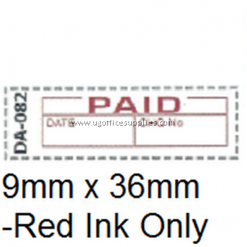 AE DA-082 READY MADE RUBBER STAMP - PAID
