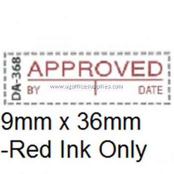 AE DA-368 READY MADE RUBBER STAMP - APPROVED