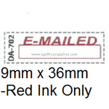 AE DA-702 READY MADE RUBBER STAMP - EMAILED