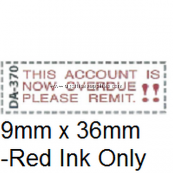 AE DA-370 READY MADE RUBBER STAMP - THIS ACCOUNT IS NOW OVERDUE