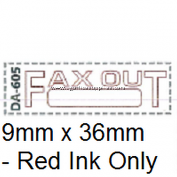 AE DA-605 READY MADE RUBBER STAMP - FAXED OUT