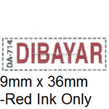 AE DA-714 READY MADE RUBBER STAMP - DIBAYAR