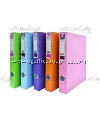 PVC Brilliant Colour 2D Ring File 25mm