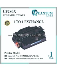 HP CF280A / CF280X / 280X / 80X BK High Capacity & High Quality Compatible Laser Toner for HP LASERJET PRO 400 M401 / M401D / M401DN / M401DW / M401DNE / M401N / M425 / MFP M425DN / MFP M425DW Printer Ink