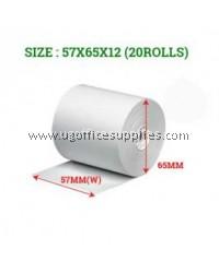 CASH REGISTER PAPER ROLLS 57 x 65 x 12 - 20 ROLLS