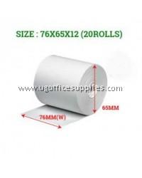 CASH REGISTER PAPER ROLLS 76 x 65 x 12 - 20 ROLLS