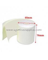CARBONLESS PAPER ROLL 76 x 65 x 12 - 100 ROLLS
