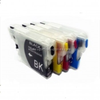 BROTHER LC38 ORIGINAL FULL SET INK CARTRIDGE for BROTHER DCP 145C / DCP 195C / DCP 375CW / MFC 250C / DCP 165C / MFC 255CW Ink black cyan magenta yellow