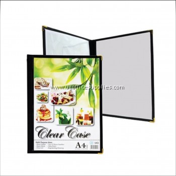 A4 CLEAR CASE MENU HOLDER (2 PAGES)