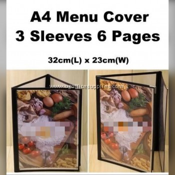A4 MENU COVER 3 SLEEVES (6 PAGES)