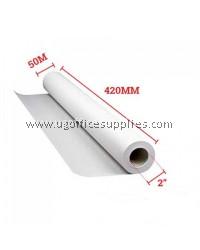 """PLOTTER PAPER A2 420mm(W) x 50m(L) x 2""""(C)"""