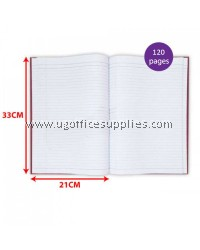 HARD COVER BOOK FOOLSCAP SINGLE LINE (120 PAGE)