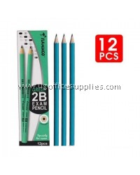 FLAMINGO GREEN 2B PENCIL 12's