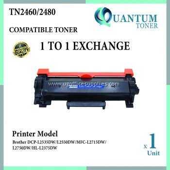 Brother TN-2480 TN-2460 TN2480 TN2460 High Quality Compatible Toner Black Cartridge for Brother DCP L2550DW / HL L2535DW / HL L2370DN / HL L2375DW / HL L2358DW / MFC L2715DW / MFC L2750DW / MFC L2770DW Printer Ink