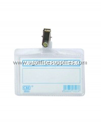 CBE 2553 PVC NAME BADGE WITH CLIP
