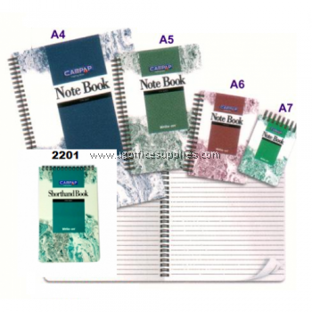 CAMPAP CW2204 / CW-2204 WRITE-ON SPIRAL NOTE BOOK A6 (50 PAGES)