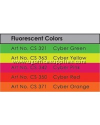 2 SHEET CARD  120gsm A4 (FLUORESCENT COLOUR)