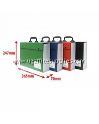 CBE 06203 PVC BOX FILE WITH HANDLE (RANDOM COLOUR)
