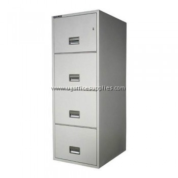 4 DRAWER FILLING CABINET WITH RECESSED HANDLE