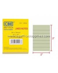 "CBE 14046 Post It Note (Lined Notes) 2"" x 3"""