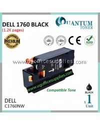 Best Price Dell C1760 C1765 C1760NW C1765NF C1765NFW BK High Quality Compatible Color Laser Toner Black Cartridge for Dell Color C1760nw Dell Multifunction Color C1765nf / C1765nfw Printer Ink