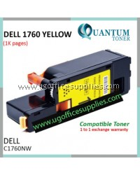 Best Price Dell C1760 C1765 C1760NW C1765NF C1765NFW YW High Quality Compatible Color Laser Toner Yellow Cartridge for Dell Color C1760nw Dell Multifunction Color C1765nf / C1765nfw Printer Ink