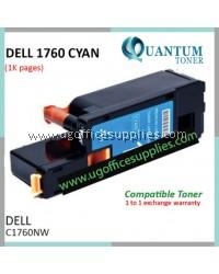 Best Price Dell C1760 C1765 C1760NW C1765NF C1765NFW CY High Quality Compatible Color Laser Toner Cyan Cartridge for Dell Color C1760nw Dell Multifunction Color C1765nf / C1765nfw Printer Ink