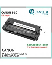Canon E-16 / E16 / E-30 / E30 / E-31 / E31 BK High Quality Compatible Laser Toner Black Cartridge for Canon FC200 FC200S FC210 FC220 FC220S FC230 FC270 FC290 FC310 FC330 FC530 PC740 PC770 PC775 PC920 PC950 PC980 Printer Ink